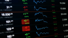 Stock exchange data board Stock Footage
