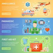 Paramedic Horizontal Banners Stock Illustration