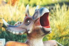 Detail from Novi Sad Dino Park Stock Photos