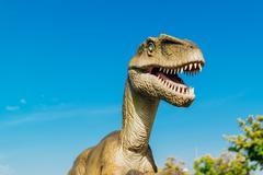Velociraptor in Novi Sad Dino Park Stock Photos