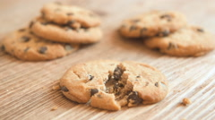 Homemade delicious cookies with chocolate and nuts Stock Footage