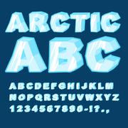Arctic ABC. Icy font letters. Blue cold alphabet Stock Illustration