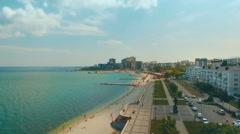 Flight over embankment of Novorossiysk Stock Footage