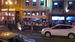 Nashville Nightlife on the City Streets Stock Footage