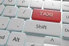 "3d illustration ""Taxi"" button on keyboard Stock Illustration"