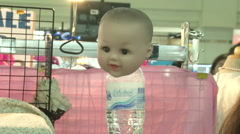 Luk Thep Doll Head on Bottle Stock Footage