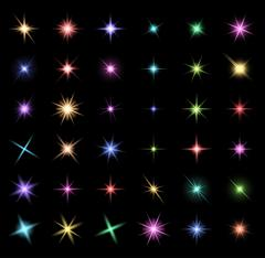 transparent star vector symbol icon design. Beautiful illustration of glowing - stock illustration