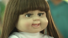 Luk Thep Dolls Head Stock Footage
