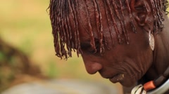 Profile Close Up of Ethiopian Woman Stock Footage