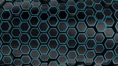 Animated Black Honeycombs - stock footage