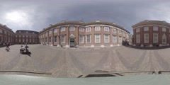 The inner courtyard of The Amsterdam Museum, Holland 360 video VR Stock Footage