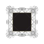 decorative vintage frame icon - stock illustration