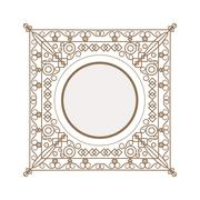 decorative vintage frame icon - stock illustration