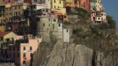 Italy, picturesque town Manarola, ULTRA HD 4k, real time Stock Footage