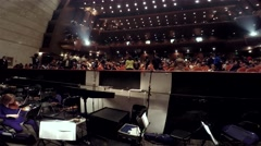 Tianqiao Theater Auditorium from the orchestra pit at  intermission. Timelapse. Stock Footage