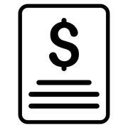 Invoice Flat Vector Icon Stock Illustration