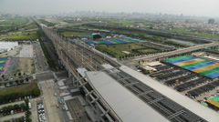 Taiwan,The close-up of Wuri Station of high-speed rail Stock Footage