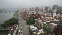 Taiwan,Taipei,1st section of Huanhe North road Stock Footage
