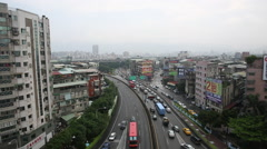 Taiwan,New Taipei,4th section of Chongyang road Stock Footage
