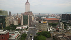 Taiwan,Taipei,1st section of Zhongxiao West road Stock Footage