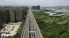 Taiwan,New Taipei,3rd section of Middle Ring Road Stock Footage