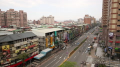 Taiwan,New Taipei,2nd section of Shuangshi Road Stock Footage