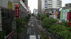 Taiwan,New Taipei,2nd section of Yonghe Road Stock Footage