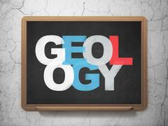Learning concept: Geology on School board background Stock Illustration
