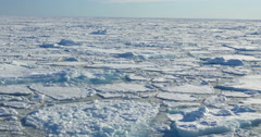 Flaoting ice on the sea in large landscape Stock Footage