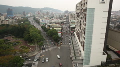 Taiwan,Taipei,6th section of Zhongshan north road Stock Footage