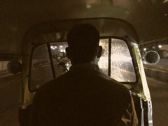 8mm Vintage Style Riding on Rickshaw Tuk Tuk in Mumbai India Stock Video Stock Footage