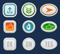 Web buttons vector set Stock Illustration