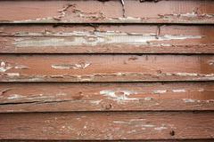 Brown Paint Peels off Aged Wooden Siding Stock Photos
