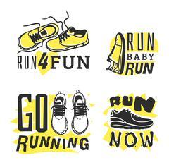Run sport motivation vector Stock Illustration