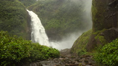 Time-lapse view of the Cascada Magica Waterfall Stock Footage