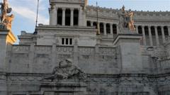 Altare della Patria in Rome, Italy Stock Footage