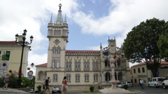 Tourists in Sintra Portugal Stock Video Stock Footage