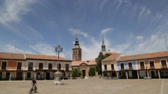 Small Town Square in Spain Stock Video Stock Footage
