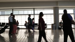 Airport Passengers Walking to Their Airline Gate Stock Video Stock Footage