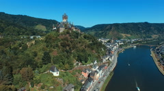 Aerial view of medieval town in Germany Stock Footage