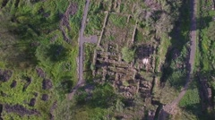 Israel - Bethsaida - Ancient city and hills aerial view  (Version 2 of 5) Stock Footage