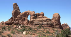 Arches National Park Rock Formation - stock footage