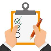 Clipboard with check list icon Stock Illustration