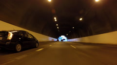 Los Angeles Pasadena 110 Freeway Tunnels Afternoon Traffic Driving Time Lapse Stock Footage