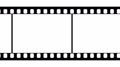 35mm Film Strip Black and White Video Footage Stock Footage