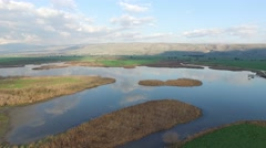 Hula Valley -  Nature Reserve Stock Footage