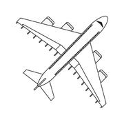 Comercial airplane icon Stock Illustration
