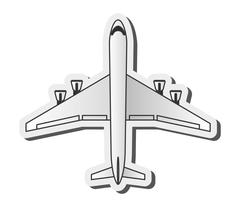 comercial airplane icon - stock illustration