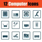 Set of computer icons Stock Illustration