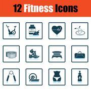 Fitness icon set Stock Illustration